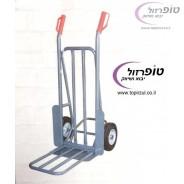 """עגלת ברזל מקצועית 250 ק""""ג עם גלגלי גומי עם כף הארכה מתקפלת"""