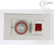 שעון לדוד חשמל או תאורת גינה מתאים לקופסת גוויס 4 מקום מותג  - ProGrade
