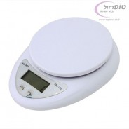"""משקל מטבח אלקטרוני דיגיטלי עד 5 ק""""ג"""