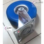 """גלגל מסתובב ארופאי פוליאוריטן מוקצף קוטר 10 אינץ' (26 ס""""מ) רוחב 8.5 ס""""מ אנטי פנצ'ר עד 200 ק""""ג"""