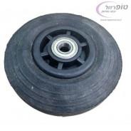 גלגל גומי שחור קוטר 20 סמ עם מיסבי לגר קוטר חור 20 ממ