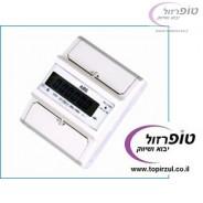 מונה חשמל חד פאזי 230V 100 A ללוח חשמל 4 מקום על פס DIN. תצוגת LCD / אנאלוגית