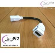 מגשר מתאם HDMI נקבה ל קיסטון נקבה HDMI מתאים לחיבור למתאם גביס או ל פאטץ' פאנל