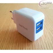 מטען קיר עם שני שקעי USB 5V 2.1A מבית Gold Touch