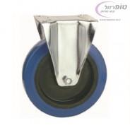 """גלגל קבוע צמיג כחול איכותי ללא בלם קוטר 80 - 160 מ""""מ לבחירה"""