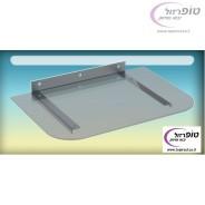 """מדף זכוכית מעוצב קלאסי ל DVD או ממיר 25*30 ס""""מ"""