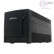 אל פסק UPS אדוויס PRV1000 לשני מחשבים סטנדרט + שני מסכים. תוצרת ADVICE