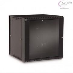 """ארון תקשורת 19""""  מידה 10U עומק 45/60 ס""""מ ,דלת זכוכית + מנעול"""