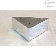 רגל מזנון מתכתית פינתית ניקל מידות 55*100*100 ממ