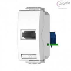 שקע טלפון ישראלי 1 מודול Nisko Switch לבן / שחור