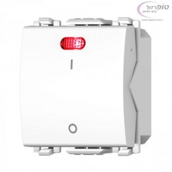 מפסק דו קוטבי כולל לד אדום 2 מודול לבן/שחור Nisko Switch