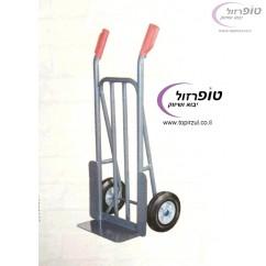 """עגלת ברזל מקצועית 250 ק""""ג עם גלגלי גומי"""