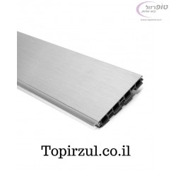 צוקל - סוקל פלסטי גימור אלום מוברש גובה 10 או 12 סמ באורך 4 מטר