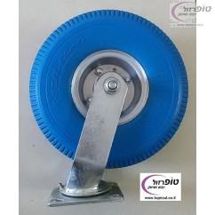 """גלגל מסתובב פוליאוריטן מוקצף קוטר 10 אינץ' (26 ס""""מ) רוחב 8.5 ס""""מ אנטי פנצ'ר עד 120 ק""""ג"""