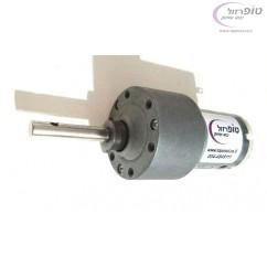 מנוע  12 וולט DC עם גיר בעל מומנט 12 kg*cm. ציר  30*6 ממ