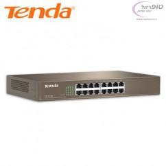 רכזת רשת 16 פורט מהירות 10/100 Mbps מבית Tenda מתאים לארון תקשורת 19 אינץ