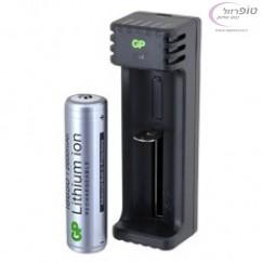מטען USB לסוללה 18650 + סוללת ליתיום 18650 2.6A
