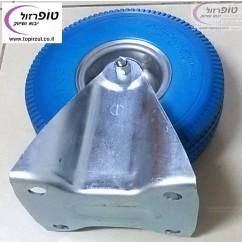 """גלגל קבוע ארופאי פוליאוריטן מוקצף קוטר 10 אינץ' (26 ס""""מ) רוחב 8.5 ס""""מ אנטי פנצ'ר עד 200 ק""""ג"""