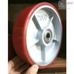 גלגל ברזל יצוק פוליאוריטן 185 / 205 ממ ברוחב 50 ממ  לעגלת משטחים