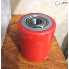 גלגל טנק ברזל מצופה פוליאוריטן מיסב כדורי במבחר מידות לעגלות משטחים