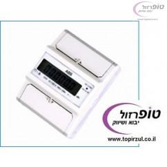 מונה חשמל תלת פאזי 3*80A  ללוח חשמל 4 מקום 230/400  לפס DIN. תצוגת LCD