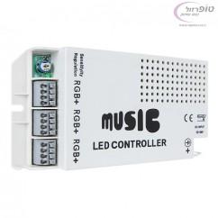 בקר לדים מוזיקלי עם שלט רחוק . כולל שליטה בעוצמת הארה  ו3 ערוצי לד RGB