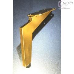 """רגל ספה דגם ברק גימור זהב גובה 12 / 15 / 17 ס""""מ עם איזון בקצה הרגלית"""