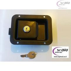 מנעול ארגז רכב עם מפתח