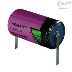 סוללה 3.6 וולט C תדיראן TADIRAN TL-4920S SIZE C עם אוזני הלחמה