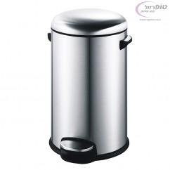פח אשפה עגול למטבח 30 ליטר מוברש סגירה שקטה