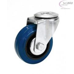 """גלגל גומי כחול חור מרכזי קוטר 3"""" מגיע עם בורג 60 ק""""ג"""
