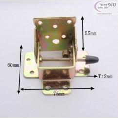 זווית ברזל מתקפלת לרגל שולחן עם מוט נעילה