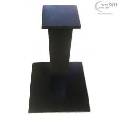 """רגל שולחן עם בסיס פלטת ברזל 50*50 ס""""מ עובי 8 ממ בצבע לבן / שחור"""