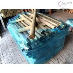 מוט עץ אורן עגול מחוטא קוטר 6 סמ אורך 100 סמ