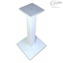"""רגל שולחן עם בסיס פלטת ברזל 40*40 ס""""מ עובי 8 ממ בצבע לבן / שחור"""