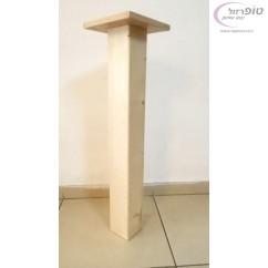 """רגל עץ אורן מלא פרופיל  10*10 ס""""מ  באורך לפי הזמנה 72 / 80 / 90 / 100 / 110 ס""""מ"""