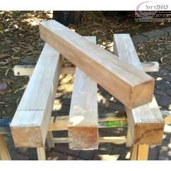 """רגל עץ בוק  9*9*78  ס""""מ מוקצעת"""