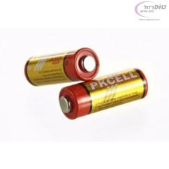 סוללת אלקליין A23 מתח 12V לשלט רכב / פעמון / אזעקה וכדומה