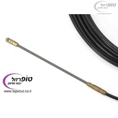 """חוט משיכה 4 מ""""מ (סטלבנד) להשחלה של כבלי חשמל ותקשורת באורך 10 / 15 / 20 / 30 מטר"""