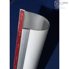 מגן אצבעות PVC עם פסי אלומיניום ודבק 3M.
