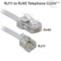 כבל לטלפון חכם מ RJ45 ל RJ11 במבחר אורכים