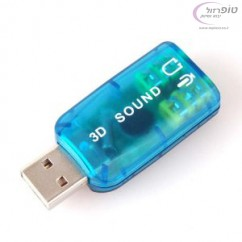 כרטיס קול ושמע חיצוני ממיר מ USB ל שקע אוזניות PL סטנדרטי