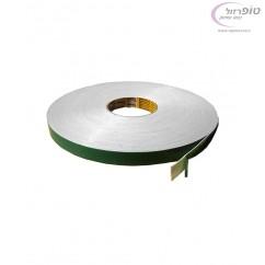 """דבק דו צדדי מקצועי ירוק - 50 מטר רוחב 19 מ""""מ"""