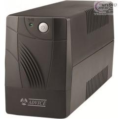 """אל פסק UPS אדוויס E600 למחשב סטנדרטי + מסך 24"""" תוצרת ADVICE"""