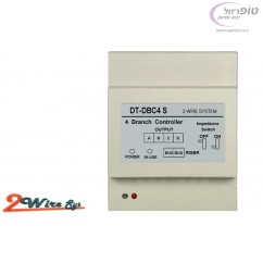 יחידת בקר מפצל 2TL-DBC4S ל 4 יציאות מסך או פנל של מערכת 2 גידים