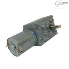 """מנוע DC עם גיר מובנה 12 וולט 24 סל""""ד מומנט 5.5 ק""""ג * ס""""מ"""