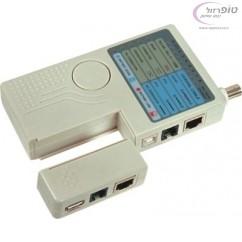 בודק כבל רשת USB / BNC / RJ45 / RJ11, מאפשר לאמת שהחיווט של הכבל תקין