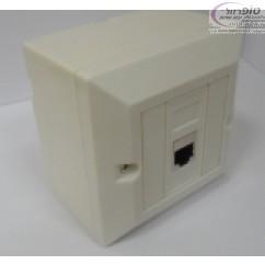 שקע רשת מעל או מתחת הטיח (הקיר) עם קיסטון cat5e מסוכך כולל בסיס או מסגרת מתכת לפי בחירה