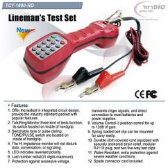 טלפון בדיקה של טכנאים אדום/כחול דגם TCT-1900-RD
