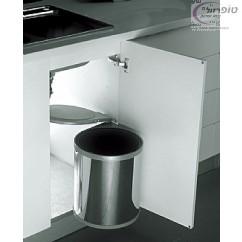 פח אשפה נשלף עגול למטבח נירוסטה 13 ליטר